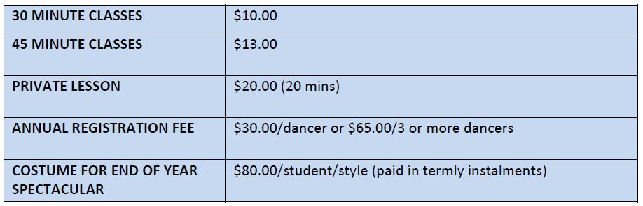 Dance lessons north shore pricing
