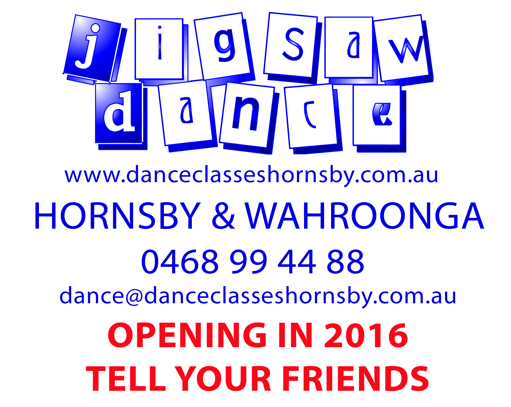 Hornsby Wahroong Dance TELL YOUR FRIENDS