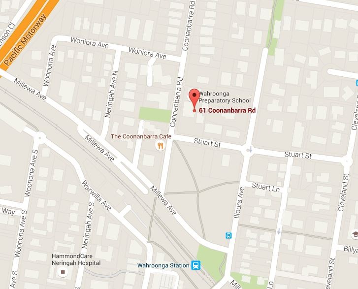Map of Jigsaw Dance Studio Wahroonga Hornsby